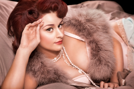Beautiful woman in 1950's style Archivio Fotografico