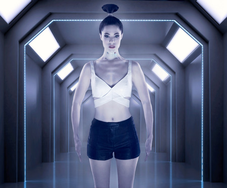 robot girl: Robot girl Stock Photo