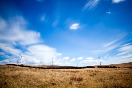 windfarm: Wide angle image of a windfarm in Australia