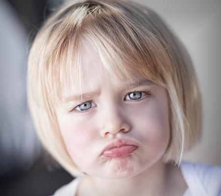 Portrait of lan upset toddler girl