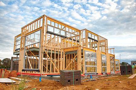 Home under construction Standard-Bild
