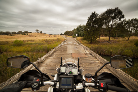 Riding through the Australian countryside