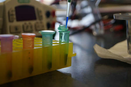 과학 실험실 DNA 스톡 콘텐츠