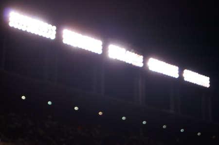 illuminated: Illuminated Stadium Lights Night Stock Photo
