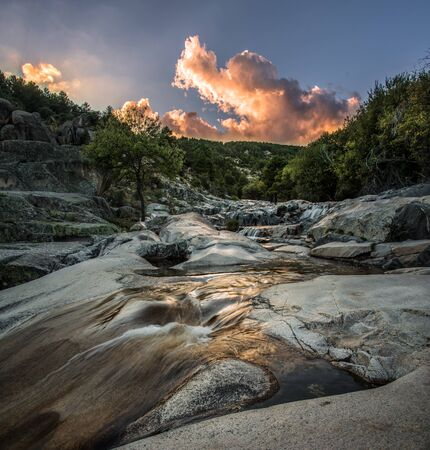 Rapids of the Manzanares river in Madrid,Spain