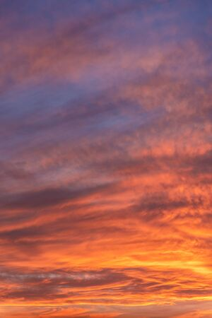 Colorful sunset sky background with reddish colors Archivio Fotografico - 138047312