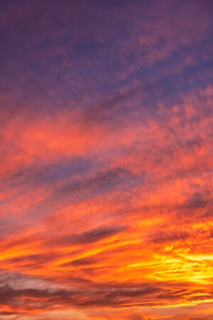 Colorful sunset sky background with reddish colors Archivio Fotografico - 138047110