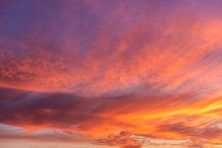 Colorful sunset sky background with reddish colors Archivio Fotografico - 138047267
