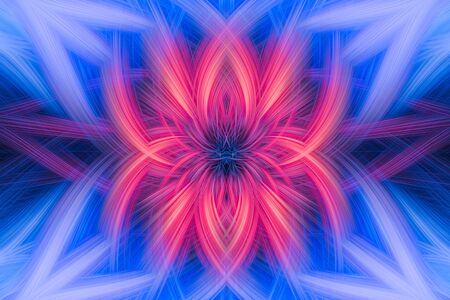 Abstract background with spiral shapes in contrasting shades of pink and blue