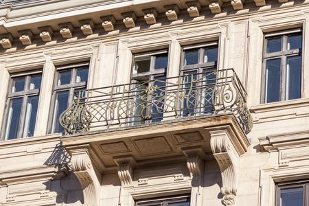 the 19th century: Exterior of building,  an elegant 19th century historical landmark housing