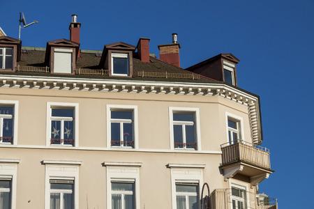 low angle views: Exterior of building,  an elegant 19th century historical landmark housing