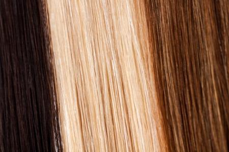 capelli biondi: Primo piano di marrone stretto, bianco e capelli scuri