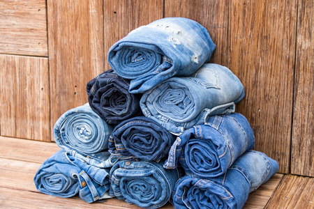 textil: different jeans closeup detail textil backround
