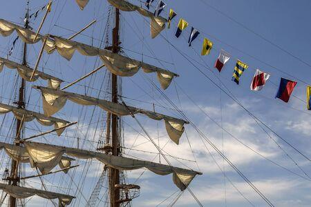 Some letters of the nautical international alphabet Standard-Bild