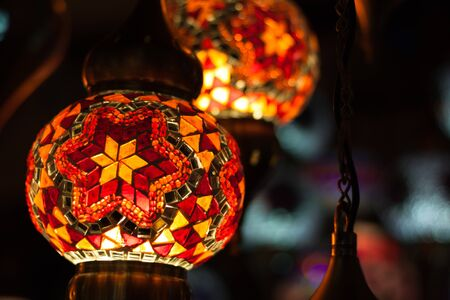Arabic lamps give dim reddish light Reklamní fotografie