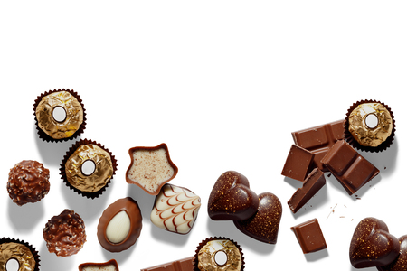 Background with chocolates
