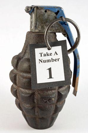 Prendere un numero Hand Grenade