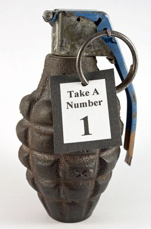 grenade: Take a Number Hand Grenade