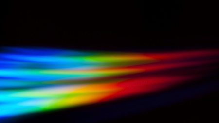 Light spectrum reflected off of a dvd Stock Photo