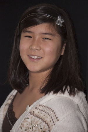 Portrait of a young Korean girl smiling