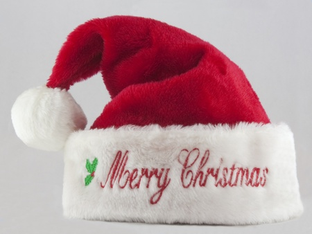 Santa hat with the words Merry Christmas