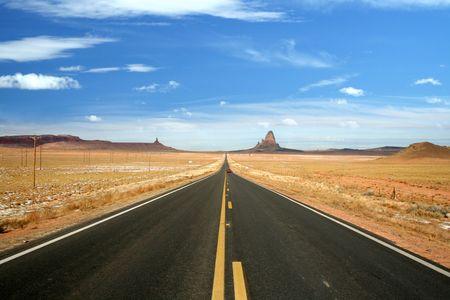The scenic US 163 Road to Monument Valley, Arizona Stock Photo - 3111281