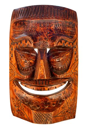 Wood carved Tiki Mask