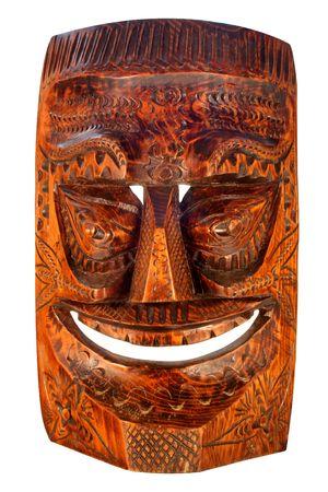 tiki bar: Wood carved Tiki Mask
