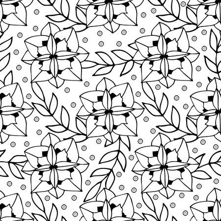 Diseño De Página De Libro De Colorear Para Adultos Con Flores Y ...