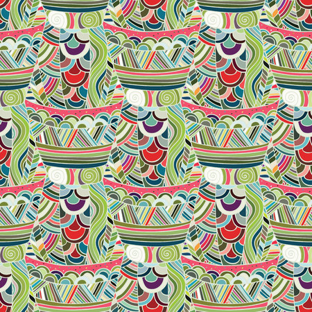 ethno: Mexican seamless pattern. Seamless pattern in ethnic, tribal, boho style. Trendy mexican background. Stylish modern print. Cute background for website, texture, fabric, invitation, save the date cards.