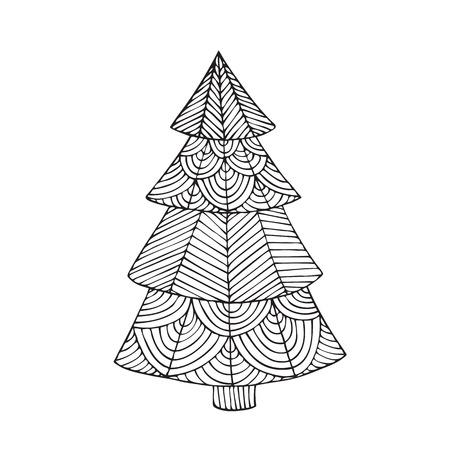 La Imagen De Un árbol De Navidad. Logotipo De árbol De Navidad ...