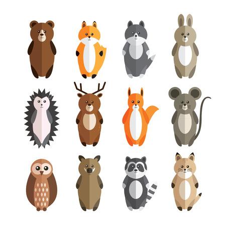 Vector set of forest animals Illustration