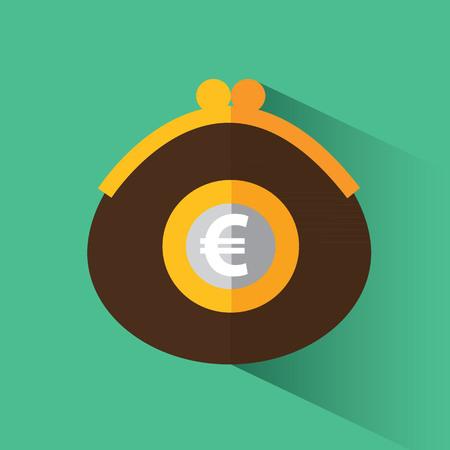 Purse with euro Illustration
