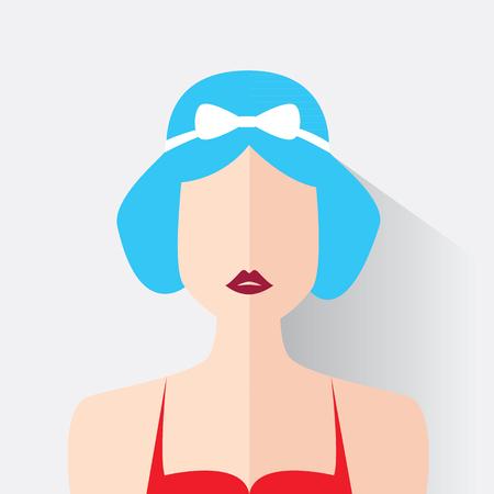 Avatar of the modern woman. Vector illustration Illustration
