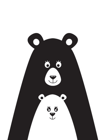 Poster with a picture of a bear and the little bear