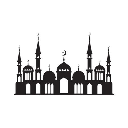Logo Muslim mosque. Vector illustration