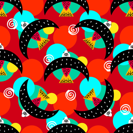 Mexican folk seamless pattern. Vector illustration