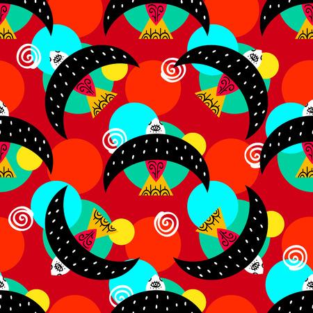 Mexican folk seamless pattern. Vector illustration