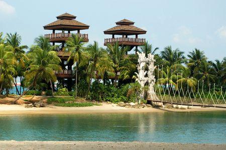 Plaża w Tropical Resort - Sentosa