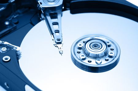 Hard Disk Closeup 1 Cool Version photo