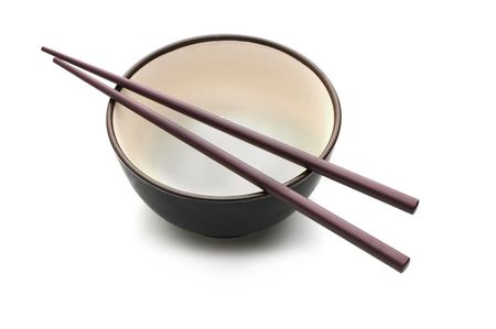 Isolated picture of chopsticks on a bowl 3 Stock Photo