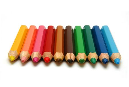 arrange: Neatly arrange Color Pencils