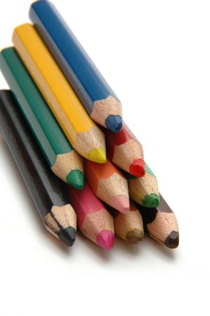 Neatly stack Color Pencils2 Stock Photo - 274668