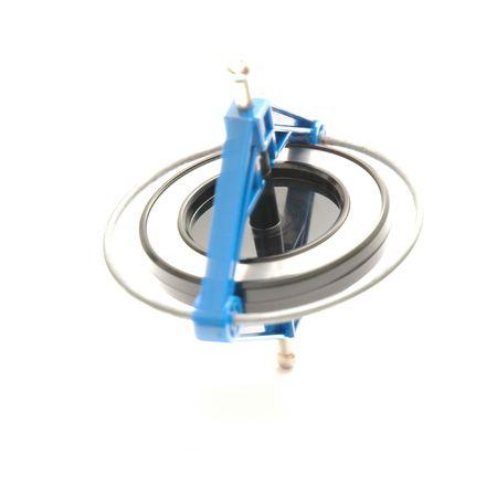 A Hi key photo of a spinning gyro photo