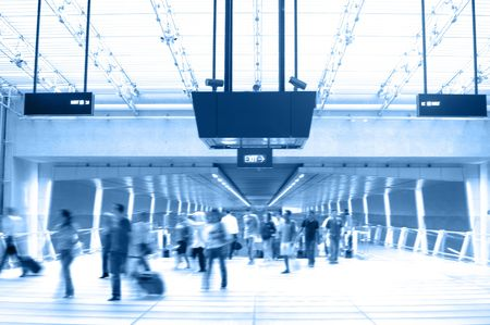 Scenes in Airport 2 (Duo-tone) photo