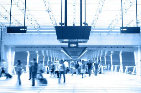 Scenes in Airport 2 (Duo-tone) photo