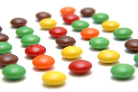 Colored Chocolate Beans 2 - Shallow DOF