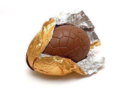 Gigantic Chocolate Egg Stock Photo