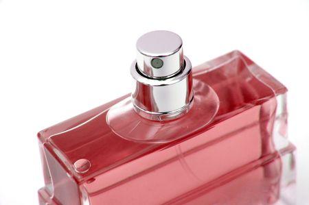 Closeup of a bottle of perfume