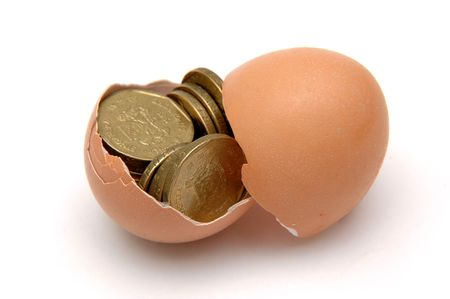 Gold Coins in Egg Stock Photo - 279481